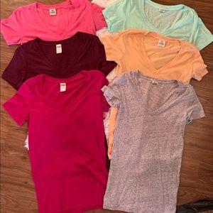 VS PINK V-Neck Shirt Bundle